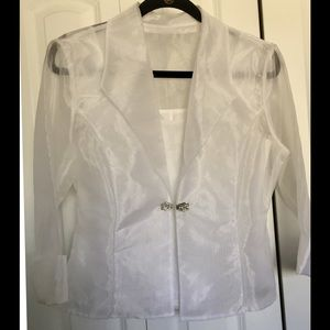 Formal White Sheer Tank and Jacket